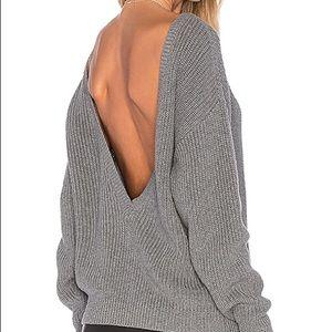 f0bf16bb017 Callahan shaker v back sweater gray small